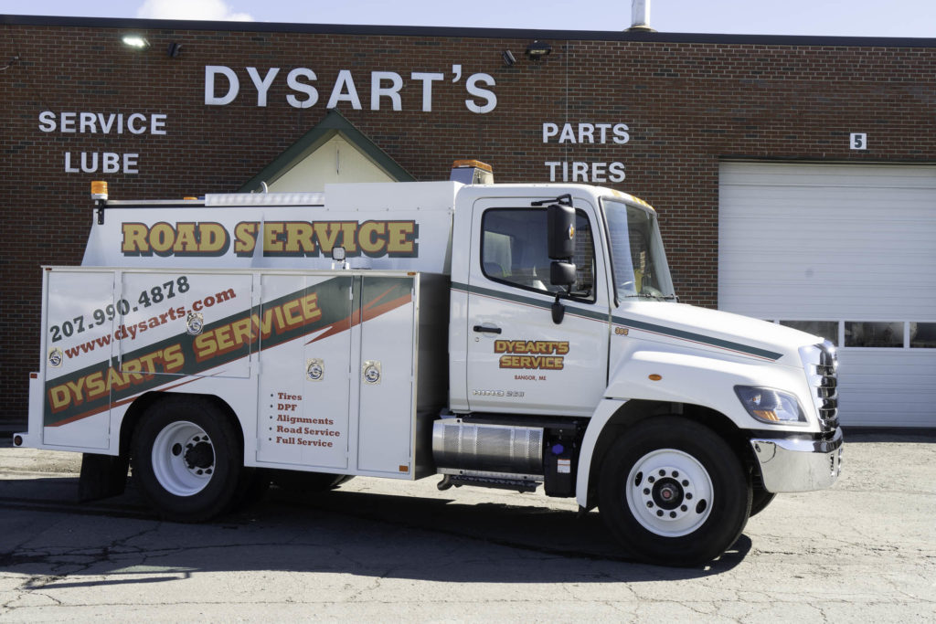 photo of dysart's service truck