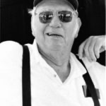 black and white photo of elderly man